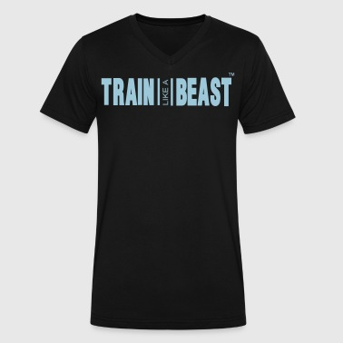 TRAIN LIKE A BEAST - Men's V-Neck T-Shirt by Canvas