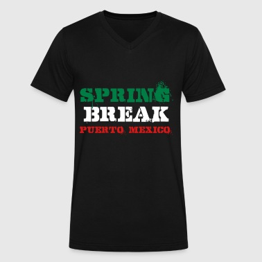 Spring Break Puerto Mexico - Men's V-Neck T-Shirt by Canvas