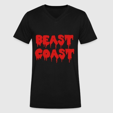 Beast Coast - Men's V-Neck T-Shirt by Canvas