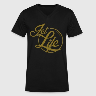 Chiller Jet Life - Men's V-Neck T-Shirt by Canvas