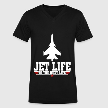 Jet life to the next life - Men's V-Neck T-Shirt by Canvas