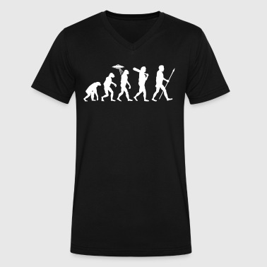 Alien Evolution (1 Color) - Men's V-Neck T-Shirt by Canvas