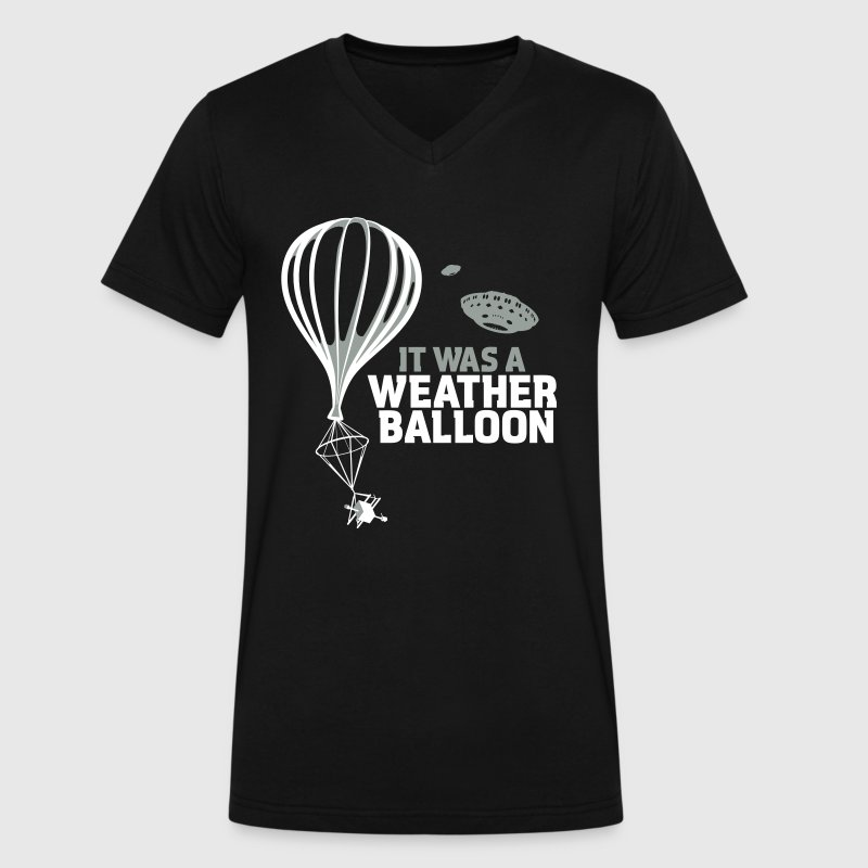 Weather Balloon UFO - Men's V-Neck T-Shirt by Canvas