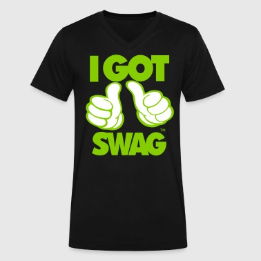 I GOT SWAG - Men's V-Neck T-Shirt by Canvas