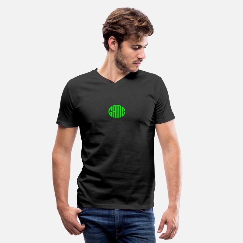Gaming T-Shirts - Game - Men's V-Neck T-Shirt black