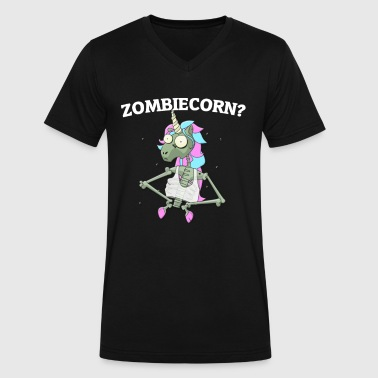 Zombiecorn - Men's V-Neck T-Shirt by Canvas