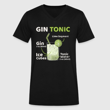 Gin And Tonic Gin Tonic - Men's V-Neck T-Shirt by Canvas