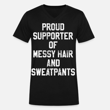 Mess Messy Strubble hair mess messy jogging - Men's V-Neck T-Shirt by Canvas