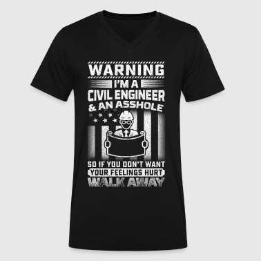Civil Partnership Civil Engineer - Men's V-Neck T-Shirt by Canvas