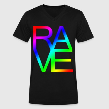 RAVE - Men's V-Neck T-Shirt by Canvas