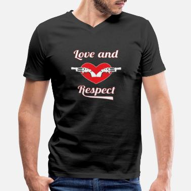 Respect Design Show Some Respect Tshirt Designs Love and respect - Men's V-Neck T-Shirt by Canvas