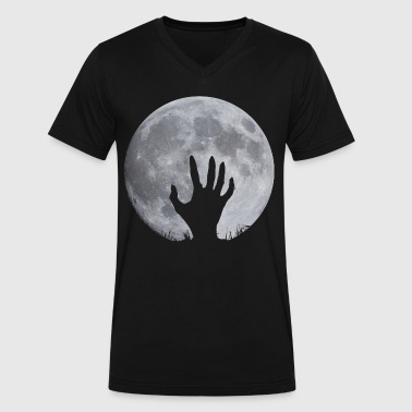 Zombie Hand Zombie Hand - Men's V-Neck T-Shirt by Canvas
