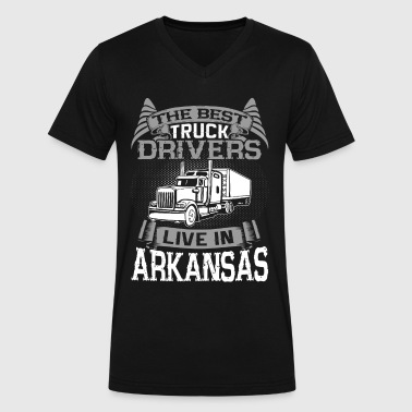 Arkansas Gift Arkansas Truckers, Arkansas Truck Driver Gift - Men's V-Neck T-Shirt by Canvas
