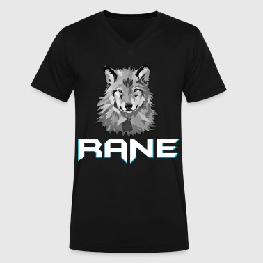 RaNe Logo - Men's V-Neck T-Shirt by Canvas