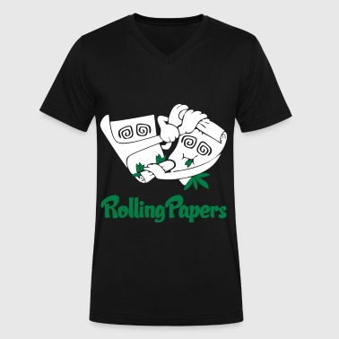 Rolling Rolling Papers - Men's V-Neck T-Shirt by Canvas