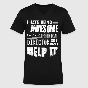 Awesome Technical Director Shirt - Men's V-Neck T-Shirt by Canvas