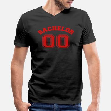 Bachelors Night bachelor 00 - wedding - bachelor party -stag night - Men's V-Neck T-Shirt by Canvas
