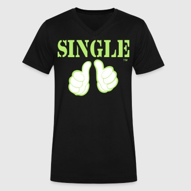 Single Father SINGLE - Men's V-Neck T-Shirt by Canvas
