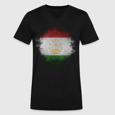 Tajikistan Tajikistan - Men's V-Neck T-Shirt by Canvas