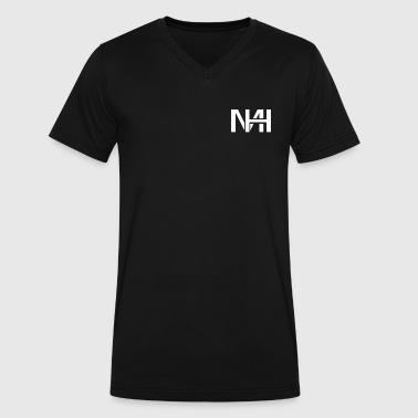 Mhs MH (White) - Men's V-Neck T-Shirt by Canvas