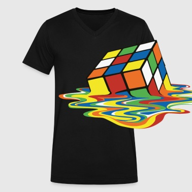 meltingcube - Men's V-Neck T-Shirt by Canvas