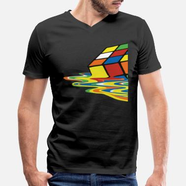 Melting meltingcube - Men's V-Neck T-Shirt by Canvas
