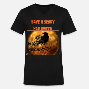 Scary Halloween scary halloween - Men's V-Neck T-Shirt by Canvas