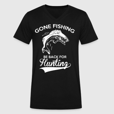 Police Fish GONE FISHING - Men's V-Neck T-Shirt by Canvas