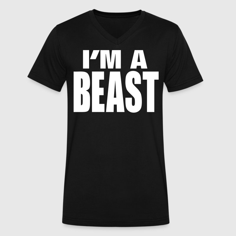 I'M A BEAST - Men's V-Neck T-Shirt by Canvas