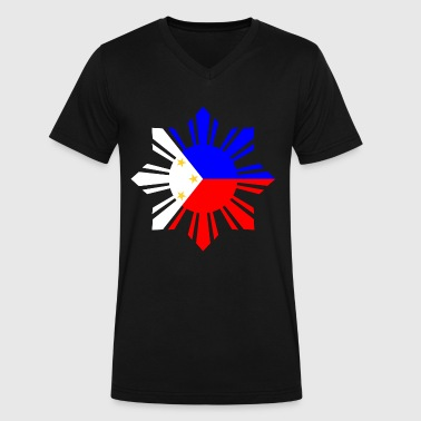 Philippines Flag - Men's V-Neck T-Shirt by Canvas