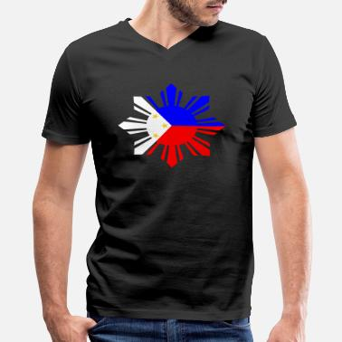 Philippines Philippines Flag - Men's V-Neck T-Shirt by Canvas
