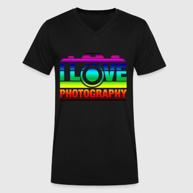 I Love Photography - Men's V-Neck T-Shirt by Canvas