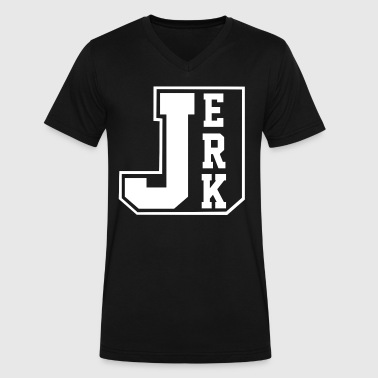JERK - Men's V-Neck T-Shirt by Canvas