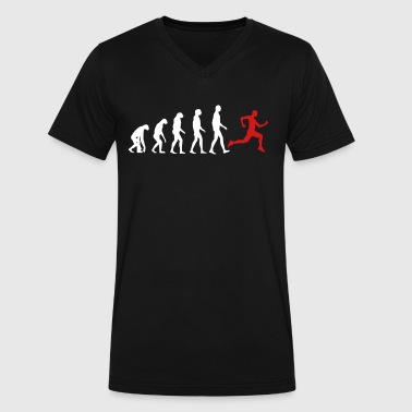 Jogger Evolution - Jogging - Fit-Sport-Fitness - Men's V-Neck T-Shirt by Canvas