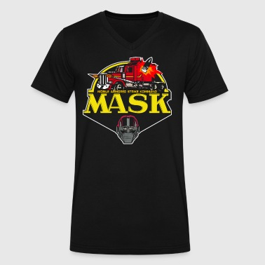 MASK Classic 80's Cartoon Series - Men's V-Neck T-Shirt by Canvas