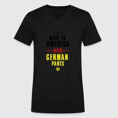 Made In German Made in America With German Parts - Men's V-Neck T-Shirt by Canvas