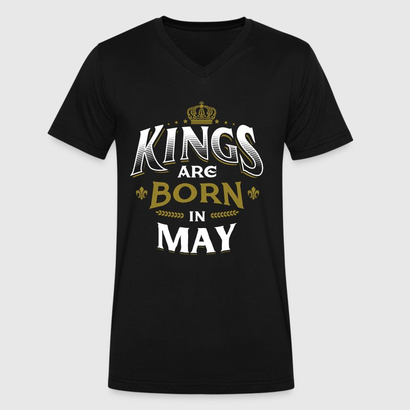 Born Birthday Bday Kings May - Men's V-Neck T-Shirt by Canvas