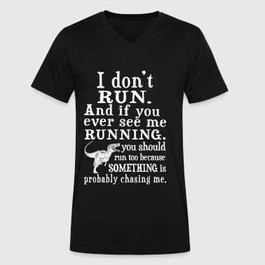 Dexys Midnight Runners Runner - You should run because something chasin - Men's V-Neck T-Shirt by Canvas