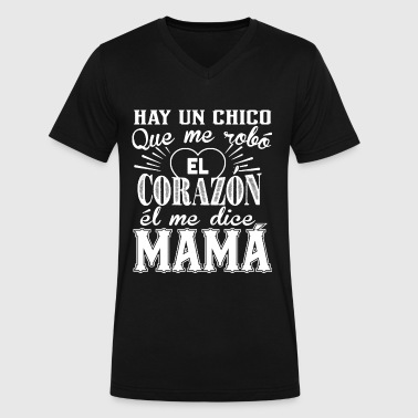 The heart tell Mama - There is a guy who stoles - Men's V-Neck T-Shirt by Canvas