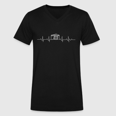 Heartbeat Camera Awesome Photography Camera Heartbeat - Men's V-Neck T-Shirt by Canvas