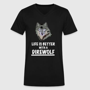 Direwolf Direwolf Life Is Better - Men's V-Neck T-Shirt by Canvas