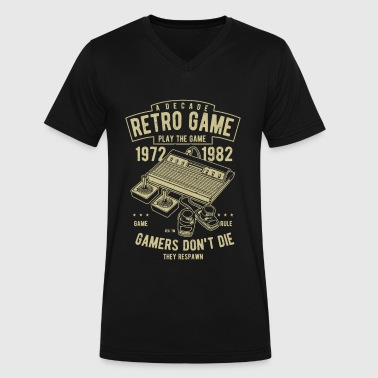 Retro Games - Men's V-Neck T-Shirt by Canvas