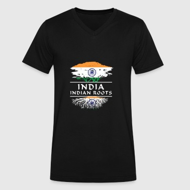 For Proud Hindu India Indian Roots T Shirt Gifts - Men's V-Neck T-Shirt by Canvas