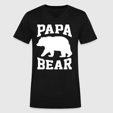 Father's Day Papa Papa Bear for Father Day - Men's V-Neck T-Shirt by Canvas