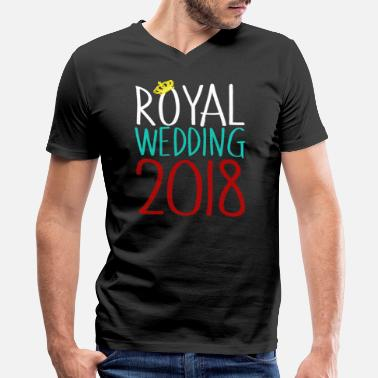 Prince Harry Royal Wedding 2018 Prince Crown Harry Meghan - Men's V-Neck T-Shirt by Canvas
