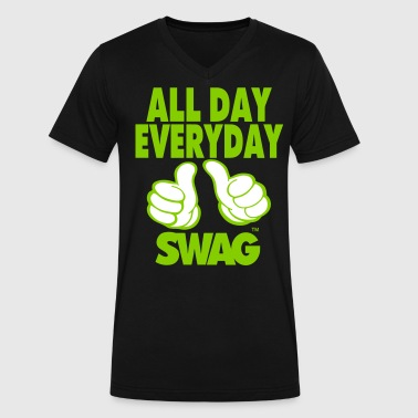 ALL DAY EVERYDAY SWAG - Men's V-Neck T-Shirt by Canvas