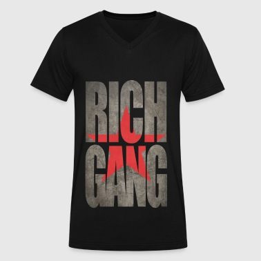 Rich Gang - Men's V-Neck T-Shirt by Canvas