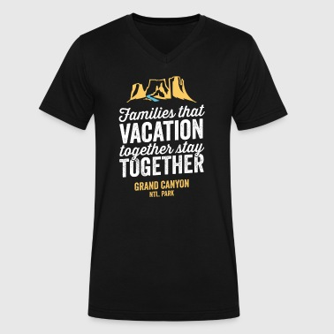 Family Vacation Grand Canyon Shirt - Men's V-Neck T-Shirt by Canvas