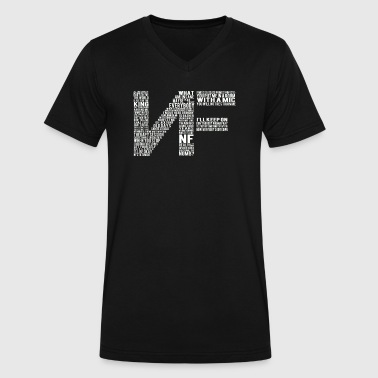 Nf Rapper RAP logo with lyrics - Men's V-Neck T-Shirt by Canvas
