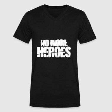 no more heroes - Men's V-Neck T-Shirt by Canvas